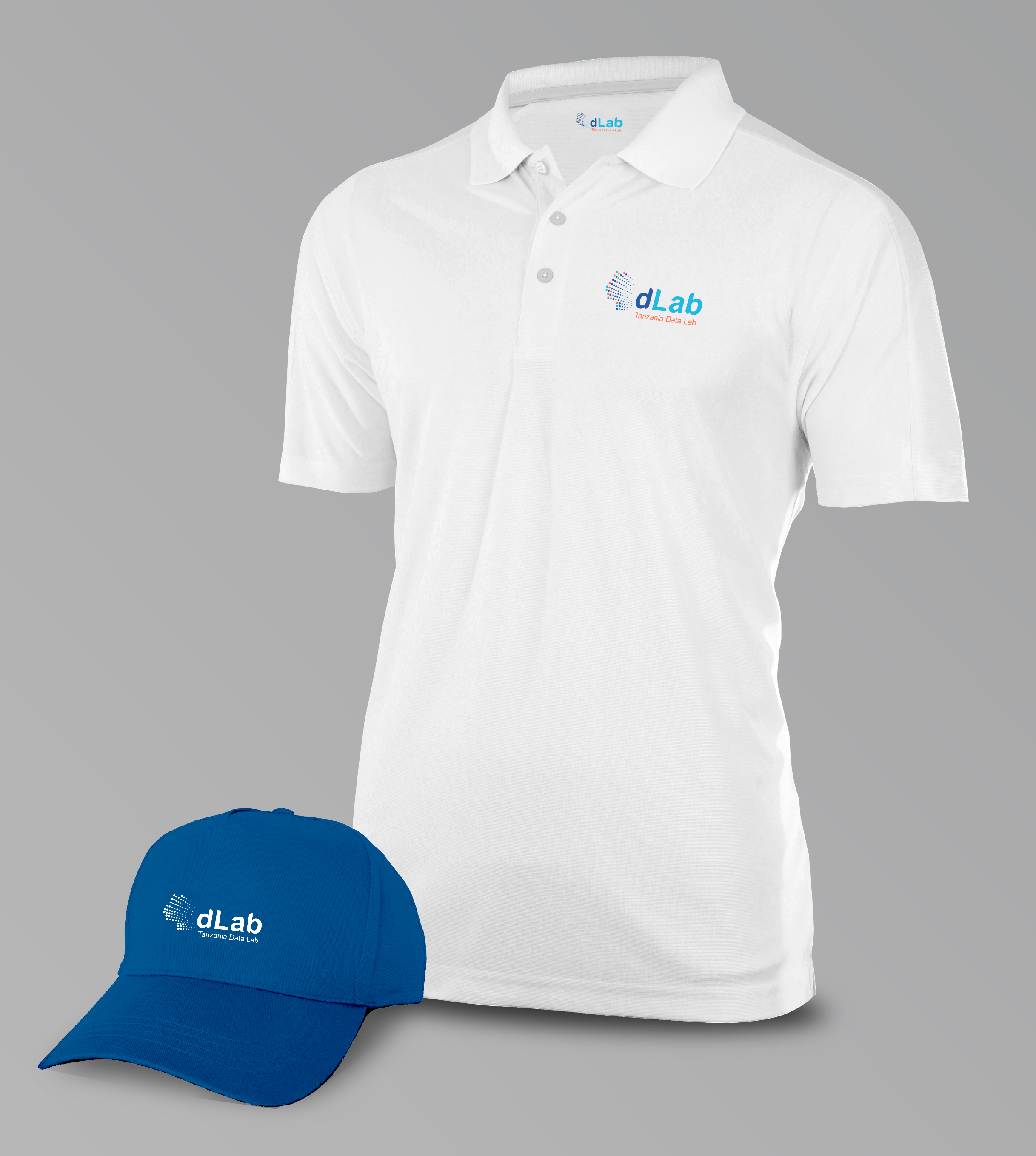 dLab logo on Tshirt and Caps