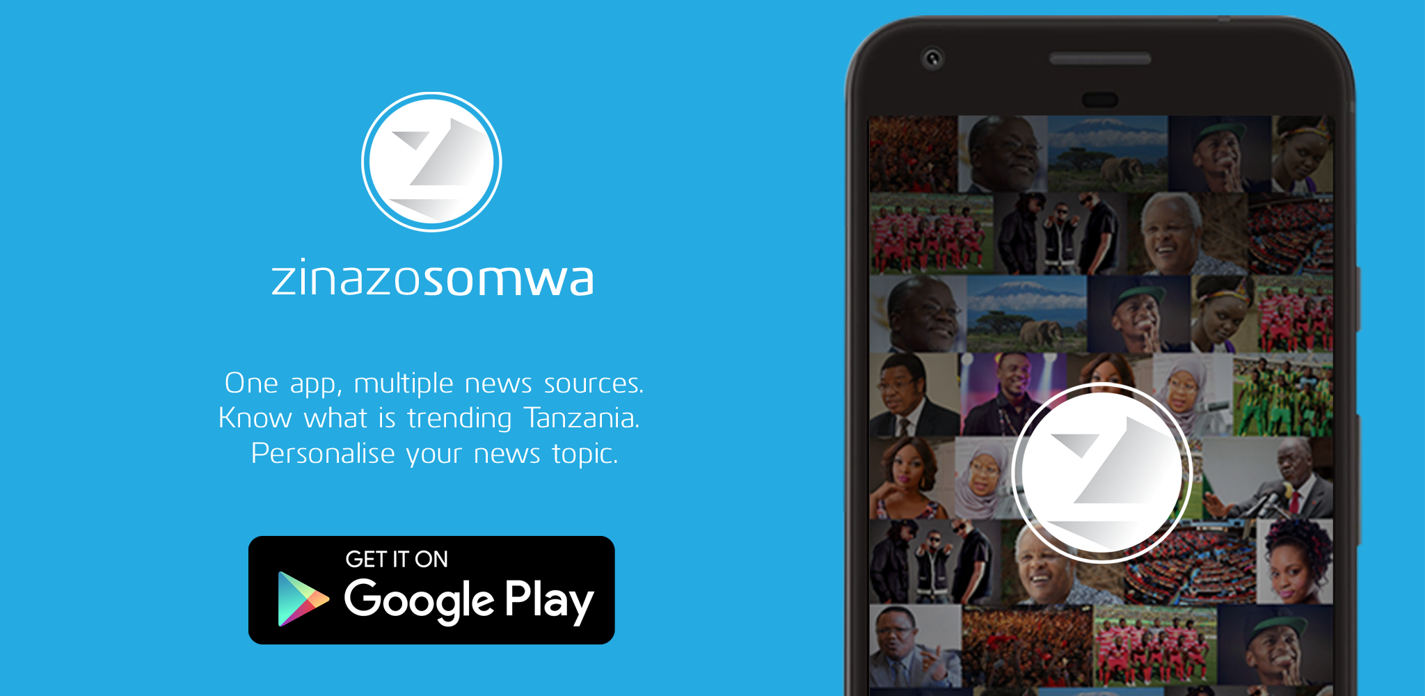 Zinazosomwa.  One app, multiple news sources. Know what is trending Tanzania.  Personalize your news topic.